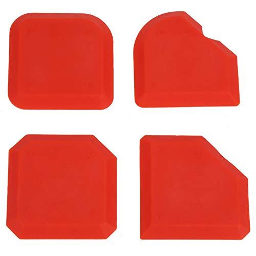 Aviviva Caulking Spatulas Silicone Sealant Spreader 4pcs/set Silicone Sealant Remover Smoother Finisher Scraper Cleaner Caulking Tool Kit