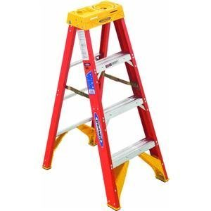 Werner 6204 300Pound Duty Rating Type IA Fiberglass Stepladder 4Foot by Werner