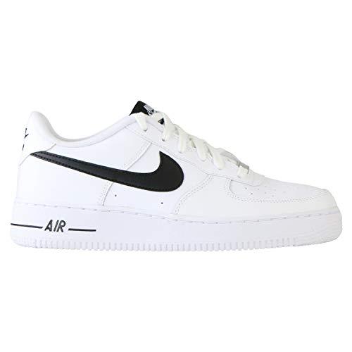 Nike Boys AIR Force 1 AN20 (GS) Basketball Shoe, White/Black, 39 EU
