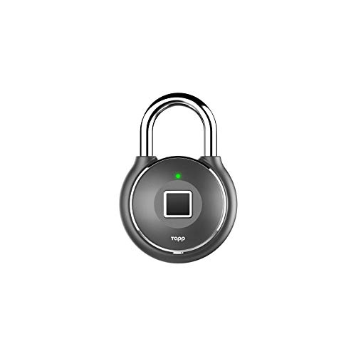 Tapplock one+ Fingerprint Bluetooth Biometric Keyless Smart Padlock (Gun Metal)
