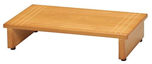 永井興産 木製玄関踏み台60 幅60×奥行35×高さ13.2cm・アジャスター付きNK-635