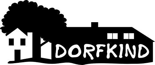 Autoaufkleber: 'Dorfkind' – Ländlich – Heimat – Zuhause – Sprüche//KFZ-Aufkleber – Wetterfest // verschiedene Farben und Größen (Schwarz - 200 mm x 90 mm)