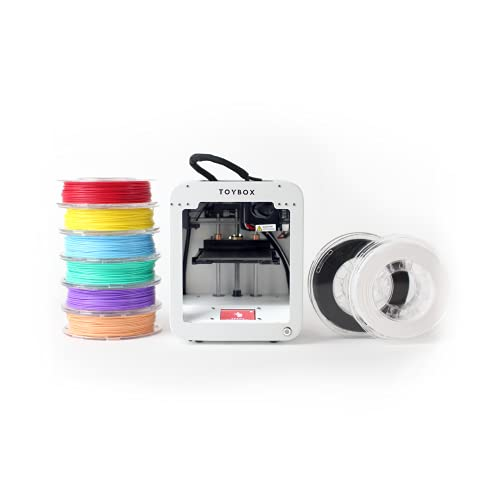 Toybox 3D Printer for Kids, No Software Needed (Includes: 3D Printer, 8...