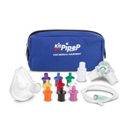 Pep für in-und exspiratorische atemübungen mit maske für Kinder von 3 bis 6 jahren und reisetasche
