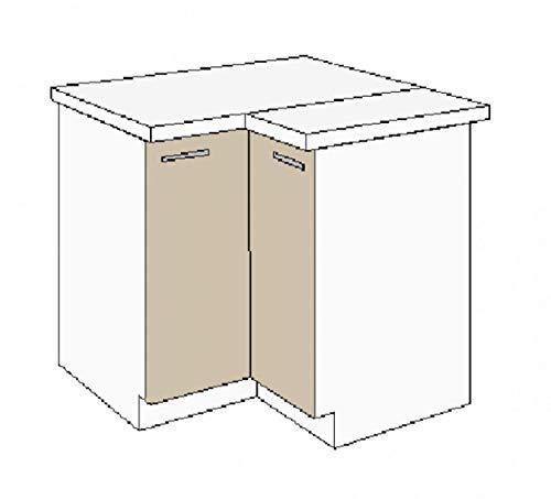 Küchen Eckunterschrank 89x89 cm für das Modell,Dave 240 Eiche Sonoma Trüffel'