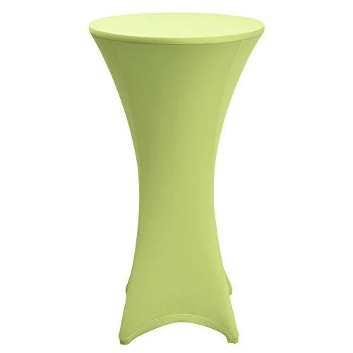 Beautissu Stretch Stehtisch Husse Stella für Bistrotisch Ø 60-65 cm Elegante Stretch-Husse Hell-Grün als Tisch-Überzug in div. Farben & Größen