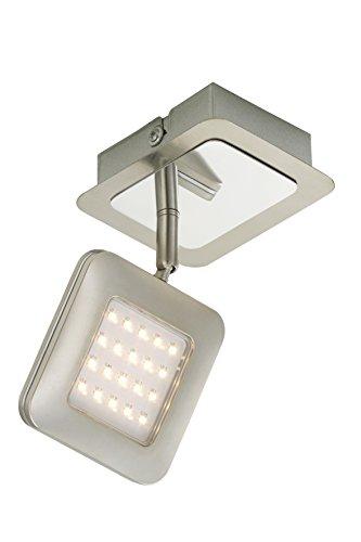 LED Spot, Wand-Deckenleuchte, Strahler, LED Platine, 1 x LED 4,5 Watt, 450 Lumen, Strahler dreh- und schwenkbar, matt-nickel