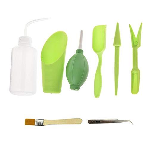 Fauge 8PCS / Set Herramientas de JardineríA Kit de Siembra de Plantas Suculentas Juego de Herramientas de Mano para JardíN