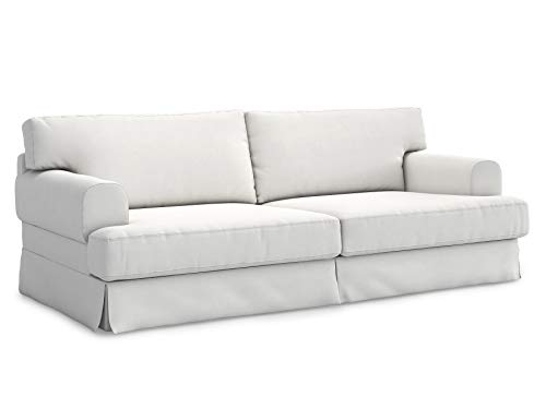 TLY Cotton Material Hovas Three Seat Sofa Cover for IKEA Hovas Slipcover-White