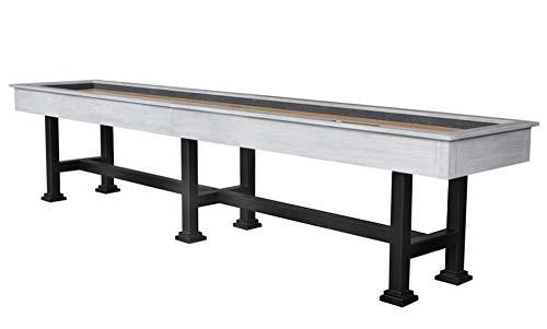 Buy Berner Billiards The Urban 14 Foot Shuffleboard Table in White Wash