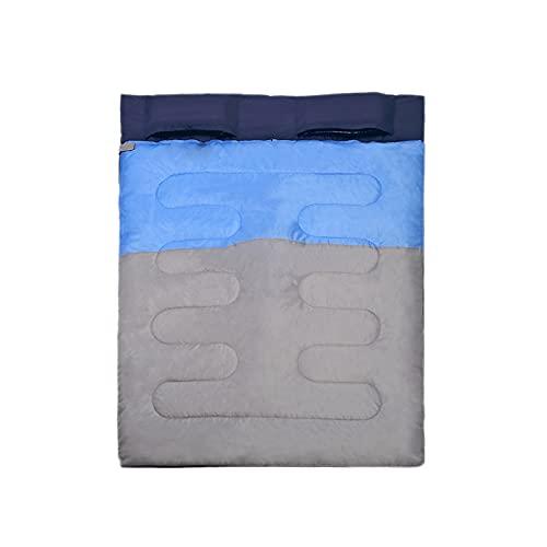 Saco De Dormir Ligero Portátil Plegable Juvenil Adecuado para Mochileros En Interiores Y Exteriores Y Senderismo Al Aire Libre,Azul