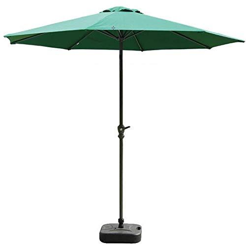Sywlwxkq Sombrilla de Mercado al Aire Libre para Patio de 9 pies con Cubierta y manivela de poliéster Verde, sombrillas de Mesa para jardín, terraza, Patio Trasero y Piscina (Color: Verde,