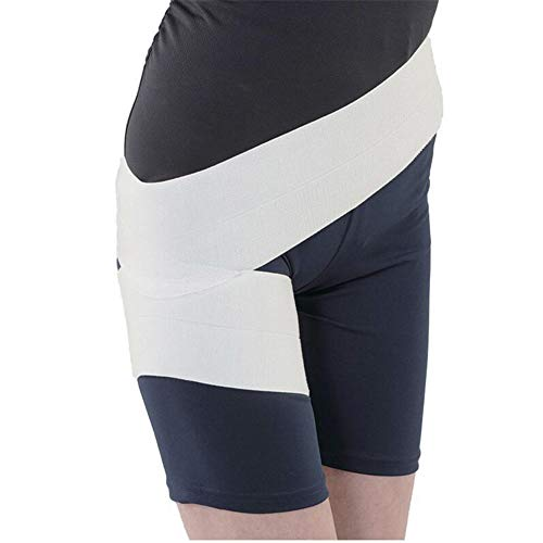 AQzxdc Hip Brace, Groin Support for Sciatica Pain Relief, Hamstring Recovery for Joints, Arthritis, Flexor Strains, Pulled Muscles, Hip Wrap Protector,White