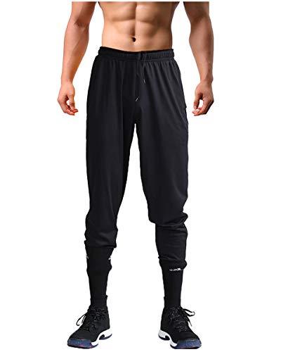UNNAWEIB Men's Sweatpants for Men, Joggers for Men Athletic Workout Black Pants (XXXL)