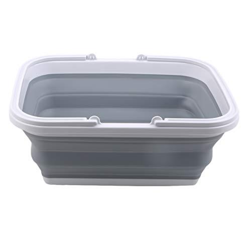 SJHFG 2 cestas plegables plegables con asas de transporte para fregadero, lavamanos,...