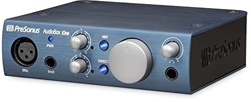 PreSonus AudioBox iOne 2x2 USB/iPad Audio Interface with Studio One Artist and Ableton Live Lite DAW Recording Software