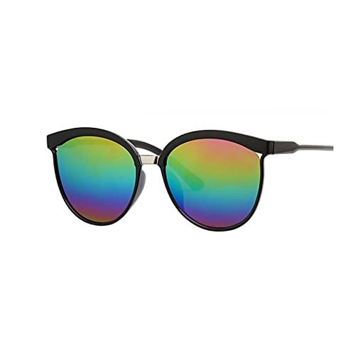 ZZDH Gafas de Sol Gafas Retro Unisex Frame Femenino Oval Eyewear UV400 Ojos Gafas para Mujer Regalo para Madres (Lenses Color : B)