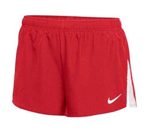 Nike Women's 3'' Dry City Core Running Shorts (Medium, Red/White)