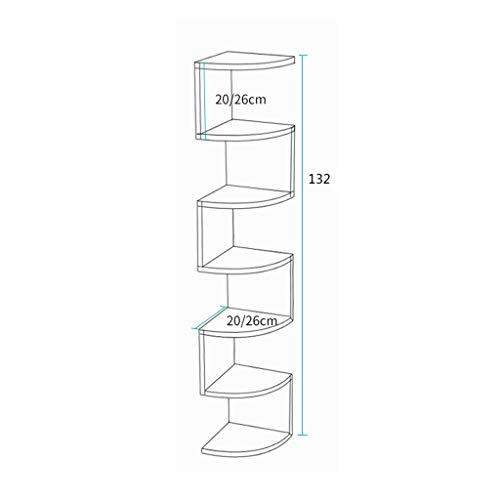 Estante de pared de pared trípode esquinero estante de esquina para colgar en la pared de la sala de estar partición durable (color: B)