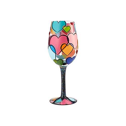 Lolita Copa de Vino El Amor Está por Todas Partes, Multicolor, 8.50x8.50x22.50 cm