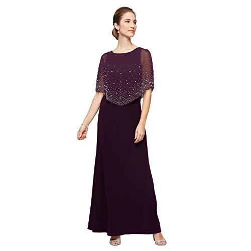 Alex Evenings Women's Cold Shoulder Popover Dress