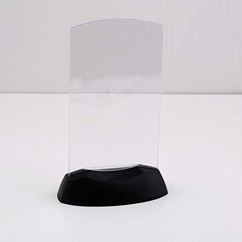 Appearancees Dual-Side Acrylic Led Light Table Menu Restaurant Card Display Holder Stand