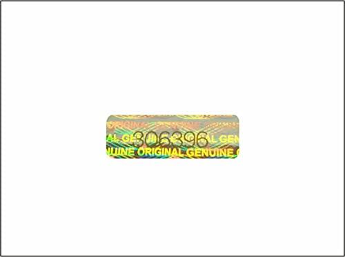 Holomarks 125 St. Hologramm Etiketten mit Seriennummern, Garantie Siegel Aufkleber 30x10mm