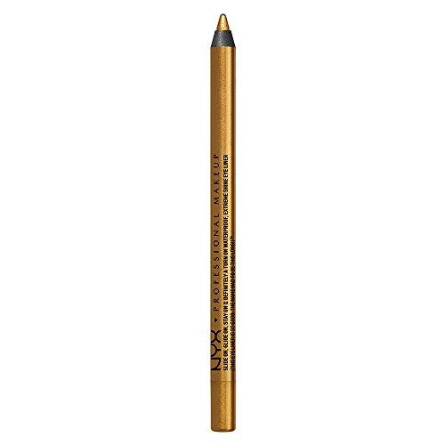 NYX PROFESSIONAL MAKEUP Slide On Pencil, Waterproof Eyeliner Pencil, Glitzy Gold