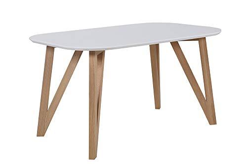 SalesFever Esstisch, MDF, Weiß, 120x80 cm