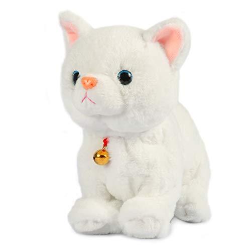 Smalody Elektronisches Plüschtier, Sound Control Robot Cat Interaktives Spielzeug Elektronische Haustiere für Kinder Geschenkpartyspielzeug (Weiß)