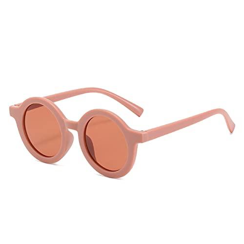 Aiong Gafas de Sol de Dibujos Animados, Marco Redondo pequeño Gafas de Sol para niños Excursión de Viaje A Prueba de Sol A Prueba de Rayos Ultravioleta