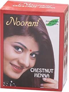 Noorani Henna Based Hair Color and Herbal Powder in USA   Ships from California (1 (6 Pouch x 10g), CHESTNUT HENNA)