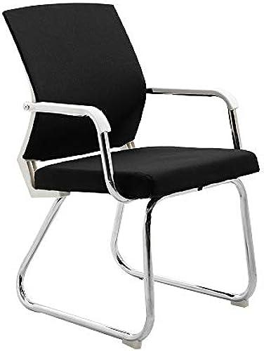 Bseack Drehstuhl Chefsessel, Bogenbein mit rutschfesten Fü  Computerstuhl Ergonomie Konferenzstuhl für Konferenzsaal mit niedriger Rückenlehne Tragf gkeit  264lbs (Farbe   Schwarz