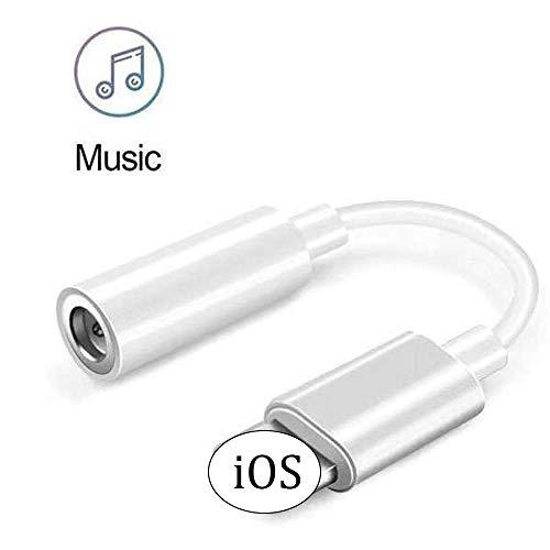Luvfun Adattatore Jack per iPhone Cuffie Adattatore Jack Compatibile Audio Adattatore per iPhone - Bianco