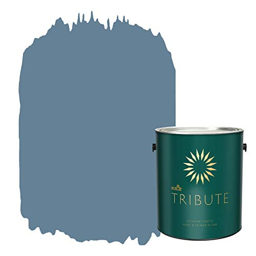 KILZ TRIBUTE Interior Matte Paint and Primer in One, 1 Gallon, Harbor Town (TB-49)