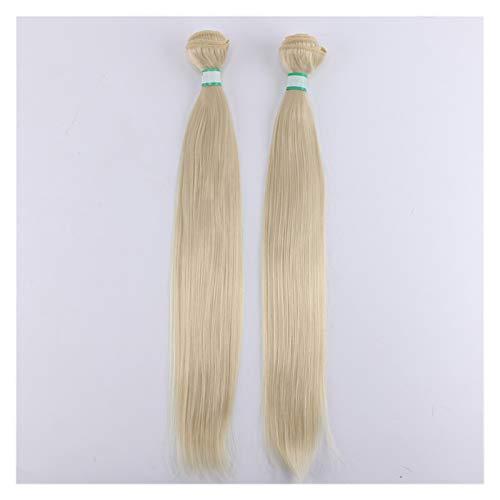 14-30 Pouces 200gram / lot Silky Straight Hair Bundles Hightic Température Extensions de Cheveux synthétiques pour Femmes Perruque (Color : #613, Stretched Length : 24 inch 2 Bundles)