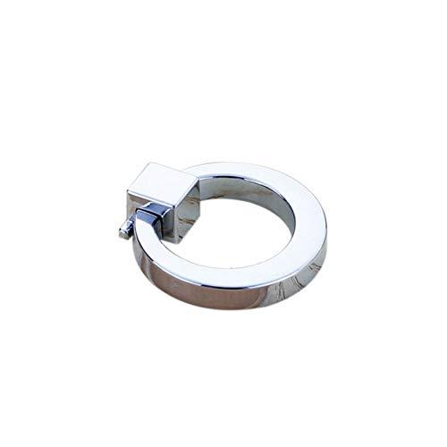 LoveOlvido American Practical Cabinet Stoßgriffe Minimalist Kleiderschrank Schlafzimmer Schublade Ringe Griff Möbel Hardware Zubehör 6091 - Chrom