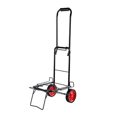 Carro de la Compra Plegable portátil Creativo Equipaje Trolley Pequeño Remolque Carro doméstico for Comprar Alimentos Carro pequeño (tamaño : L)