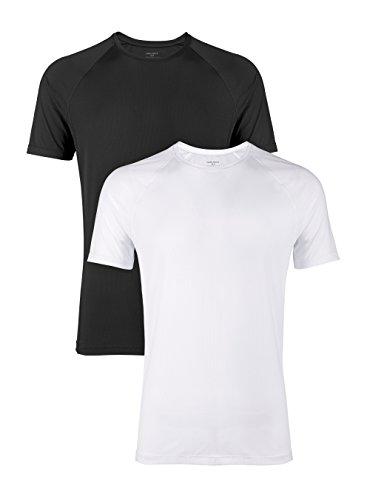 DAVID ARCHY - Camisetas para hombre con cuello en V y rayón de bambú ultra suave en 2 o 3 unidades