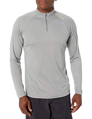 Craft Eaze T-Shirt à Manches Longues et Demi-Zip pour Homme Gris/Blanc XL Gris