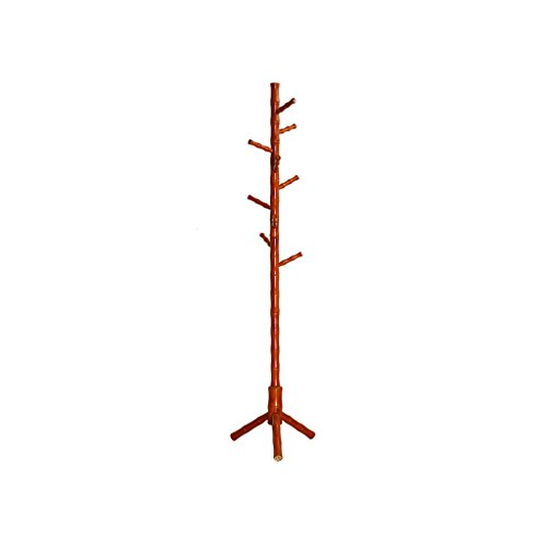 XiaoXIAO Concise Coat Hanger Floor Escudo de Madera Maciza Rack Solid Wood Bold Coat Rack Hanger Floor Teak Color Perchero