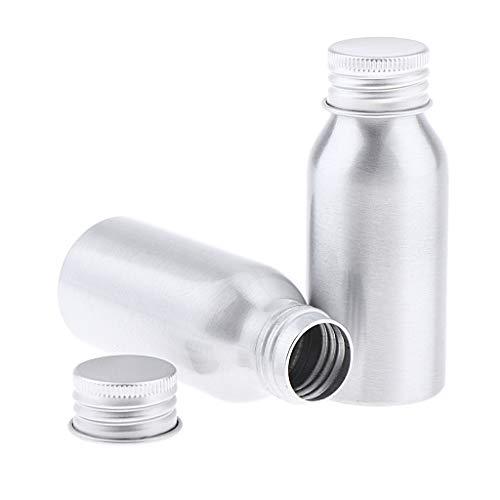 freneci Envase de Botella de Aluminio de Seguridad de 2 Paquetes para Deportes Al Aire Libre, Senderismo, Ciclismo - 50ml