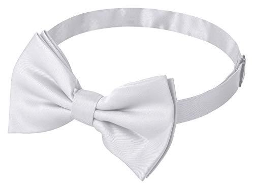 Fanucci weiße herren-fliege matt weiss schleife damen frauen männer mann hund katze weihnachten mann gebunden bow-tie