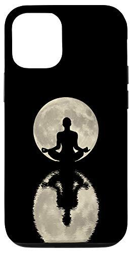 iPhone 12/12 Pro Yoga Gift for Women - Namaste Moon Refection Zen Spiritual Case