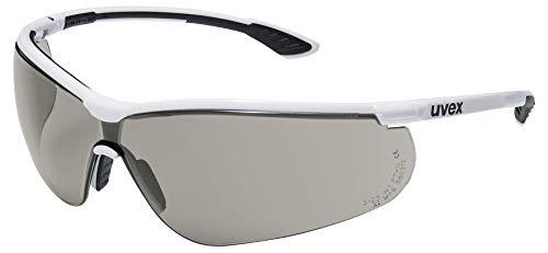 Uvex Sportstyle Schutzbrille - Getönte Arbeitsbrille - Schwarz-Weiß