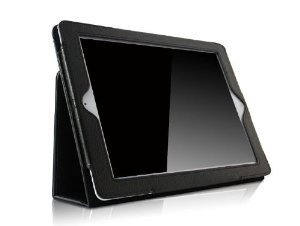 RUBAN Folio Case for iPad 2 3 4 (Old Model) 9.7 inch Tablet - [Corner Protection] Slim Fit Smart Stand Protective Cover Auto Sleep/Wake, Black