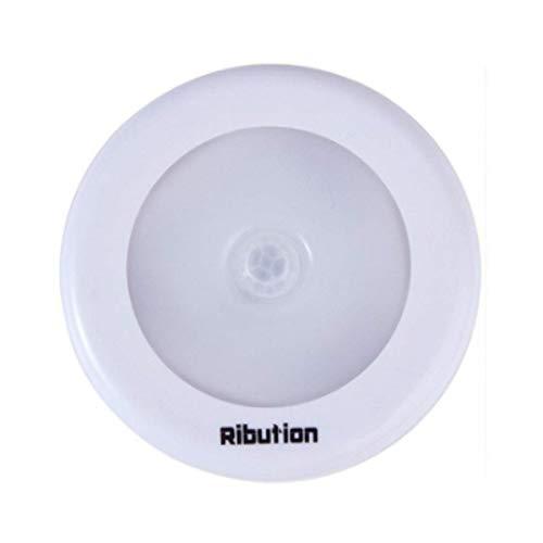 センサーライト 室内 屋内 人感 丸形 階段ライト 玄関ライト センサー LED 廊下 電池式 フットライト LSF-03 (ホワイト本体白色)