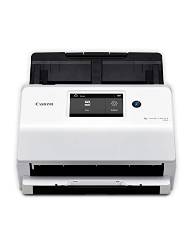 Canon imageFORMULA R50 Office Document Scanner for PC and Mac - Color Duplex Scanning - Connect with USB Cable or Wi-Fi Network - LCD Touchscreen - Auto Document Feeder - Easy Setup - (4823C001AA)