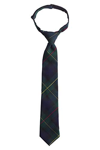Lands' End Uniform Boys Pre Tied Plaid Tie Hunter/classic Navy Plaid Regular Small