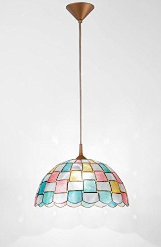 Lámpara de techo de nácar con péndel. Medidas: 40 cm de diámetro. 1 x E27 máx. 60 W. Lámpara modelo Perenz H5471
